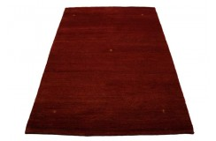 Gładki czerwony nowoczesny dywan Indyjski gabbeh ręcznie tkany 170x240cm piękny