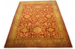 Dwukolorowy czerwony oryginalny ręcznie tkany dywan Ziegler Farahan z paksitanu 100% wełna ok 222x262cm ekskluzywny