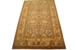 Fioletowy oryginalny ręcznie tkany dywan Ziegler Farahan z paksitanu 100% wełna 188x283cm ekskluzywny