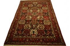 Oryginalny dywan ręcznie tkany Baktjar z Iranu - perskie dzieło sztuki 2x3m kwatery 100% wełna