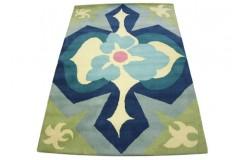 Nowoczesny wełniany dywan Floral z Indii ręcznie taftowany 150x240cm kolorowy geometryczny abstrakcyjny
