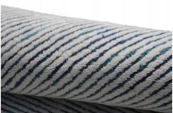 Wielki wełniany nowoczesny dywan w pasy 150x240cm welna indie