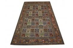 Ręcznie tkany eksklzywny dywan Mud Sherkat Farsh 134x237cm piękny perski w kwatery wełna i jedwab