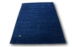 Dywan Gabbeh HANDLOOM gładki niebieski miękki LUX 250x300cm (Indie) przecena