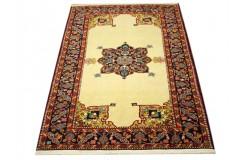 Ręcznie tkany antyczny nowy dywan Afgan ekskluzywny gęsto tkany 120x165cm wełna cienki