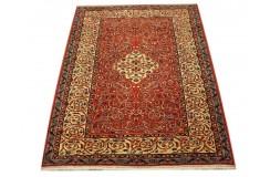 Ręcznie tkany antyczny nowy dywan afgański ekskluzywny gęsto tkany 119x145cm wełna ok 1950r. kwiatowe pnącza