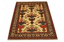 Ręcznie tkany antyczny nowy dywan afgański ekskluzywny gęsto tkany 119x145cm wełna i jedwab ok 1950r. wazy