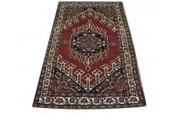 Ręcznie tkany antyczny nowy dywan afgański ekskluzywny gęsto tkany 127x201cm wełna ok 1950r. z medalionem
