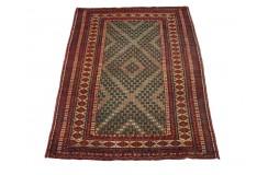 Ręcznie tkany antyk nowy dywan etniczny gęsto tkany 99x128cm wełna ok 1950r. Afganistan