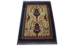Ręcznie tkany antyk nowy dywan gęsto tkany 80x115cm wełna ok 1950r. Afganistan wazy, ptaki