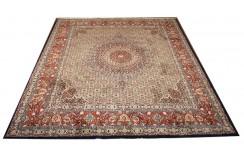 Ręcznie tkany eksklzywny dywan Mud Sherkat Farsh 250x300cm piękny perski z medalionem wełna