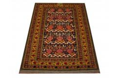 Ręcznie tkany antyczny dywan gęsto tkany 127x167cm wełna ok 1950r. Afganistan etniczny