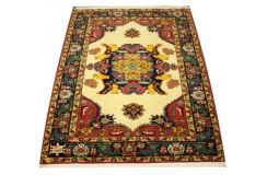 Ręcznie tkany antyczny dywan gęsto tkany 139x184cm wełna ok 1950r. Afganistan etniczny