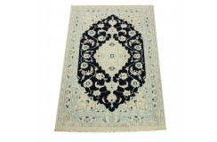 Nain 9la Habibian gęsto ręcznie tkany dywan z Iranu wełna + jedwab 60x90cm czarny