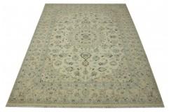 Nain 9la Habibian gęsto ręcznie tkany dywan z Iranu wełna + jedwab 200x300cm beżowy