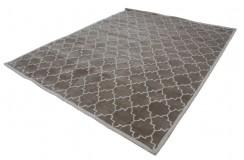 Beżowy dywan z szarymi nowoczesnymi wzorami 2cm gruby 240x300cm Indie