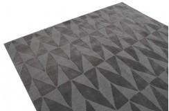 Beżowy tani dywan wełniany z Indii wielki 275x365cm dwupoziomowy ręcznie tkany