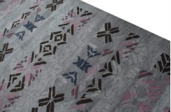 Gruby indyjski szaro-niebieski dywan wełniany 270x360cm nowoczesny wzór