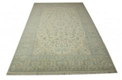 Nain 9la Habibian gęsto ręcznie tkany dywan z Iranu wełna + jedwab 206x322cm beżowy