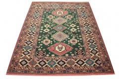 Ręcznie tkany antyczny dywan gęsto tkany 140x180cm wełna ok 1950r. Afganistan etniczny