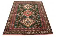 Ręcznie tkany antyczny dywan gęsto tkany 140x170cm wełna ok 1950r. Afganistan etniczny