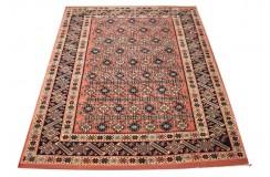 Ręcznie tkany antyczny dywan gęsto tkany 130x160cm wełna ok 1950r. Afganistan etniczny