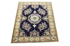 Nain 6la Habibian gęsto ręcznie tkany dywan z Iranu wełna + jedwab ok 101x147cm granatowy majestatyczny z podpisem
