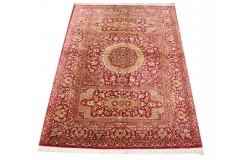 KOM - nowy piękny perski dywan (GHOM) 100% jedwab ręcznie tkany Iran oryginalny 104x145cm 1 000 000 węzłów / 1m2