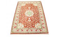 KOM - nowy piękny perski dywan (GHOM) 100% jedwab ręcznie tkany Iran oryginalny 110x147cm
