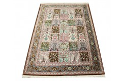 KOM - nowy piękny perski dywan (GHOM) 100% jedwab ręcznie tkany Iran oryginalny 100x157cm 1 000 000 węzłów w kwatery