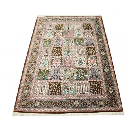 KOM - nowy piękny perski dywan (GHOM) 100% jedwab ręcznie tkany Iran oryginalny 100x157cm 1 000 000 węzłów / 1m2