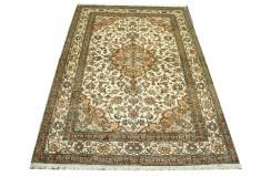 Dywan Kaszmir (Kashmir) z naturalnego jedwabiu klasyczny 128x185cm Indie ręcznie tkany beżowy