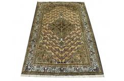 KOM - nowy piękny perski dywan (GHOM) 100% jedwab ręcznie tkany Iran oryginalny 100x153cm