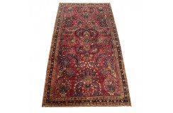 Antyczny piękny dywan Amerikan Sarough (Saruk) z Iranu 76x145cm 100% wełna oryginalny ręcznie tkany perski