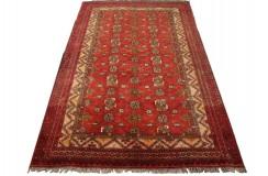 Ręcznie tkany antyczny dywan gęsto tkany 126x196cm wełna ok 1950r. Afganistan etniczny