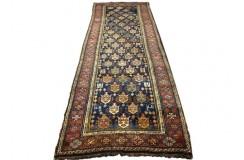 Antyk bogaty dywan Sziraz Kaszkaj z Iranu 113x331cm 100% wełna ręcznie tkany na wełnie