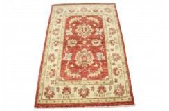 Czerwony tradycyjny ręcznie tkany dywan Ziegler Farahan z Pakistanu 100% wełna 84x129cm ekskluzywny