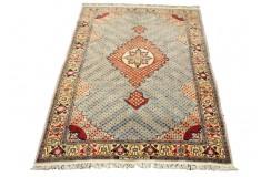 Ręcznie tkany luksowy dywan gęsto tkany dywan afgański 117x153cm wełna i jedwab Afganistan sygnowany