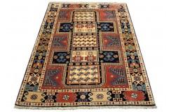Perski koczowniczy kurdyjski wiejski dywan Gutschan 126x170cm welna ręcznie tkany Iran