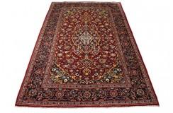 Czerwony oryginalny dywan Kashan (Keszan) półantyczny z Iranu wełna 147x223cm perski