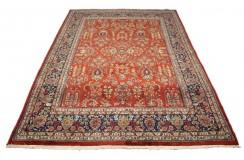 Tradycyjny piękny dywan Saruk z Indii ok 183x260cm 100% wełna oryginalny ręcznie tkany perski