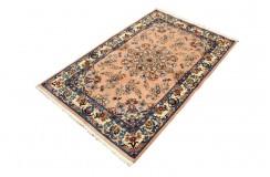 Gęsto tkany kwiatowy piękny dywan Saruk z Iranu 90x160cm 100% wełna z jedwabiem oryginalny perski