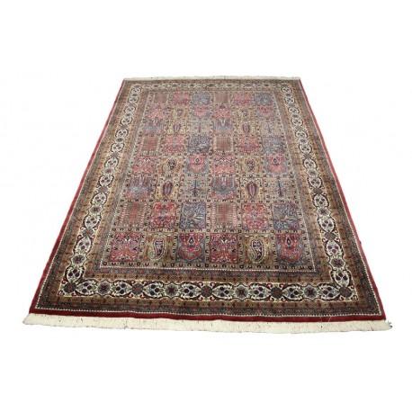 Gęsty piękny dywan Baktjar z Indii ok 168x241cm 100% wełna luksusowy wart 26 280zł