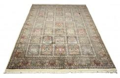 Beżowy piękny dywan Saruk z Indii ok 200x300cm 100% wełna oryginalny ręcznie tkany perski