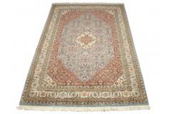 Niebieski piękny dywan Tabriz z Indii ok 170x240cm 100% wełna oryginalny ręcznie tkany perski wart 28 000zł