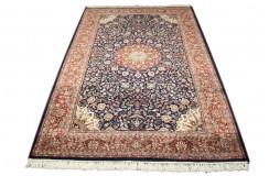 Niebieski piękny dywan Tabriz z Indii ok 200x300cm 100% wełna oryginalny ręcznie tkany perski luksusowy