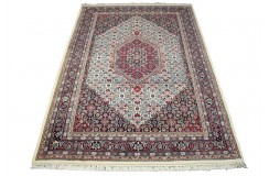 Beżowy piękny dywan Bidjar z motywem heratu 100% wełna ręcznie tkany 190x274cm Indie