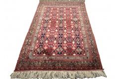 Kobierzec z Afganistanu 100% jedwab etniczny orientalny dywan ręcznie wykonany 120x195cm XX wiek cenny Tekke Jomud