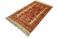 Kobierzec z Afganistanu 100% jedwab etniczny orientalny dywan ręcznie wykonany 113x183cm XX wiek cenny