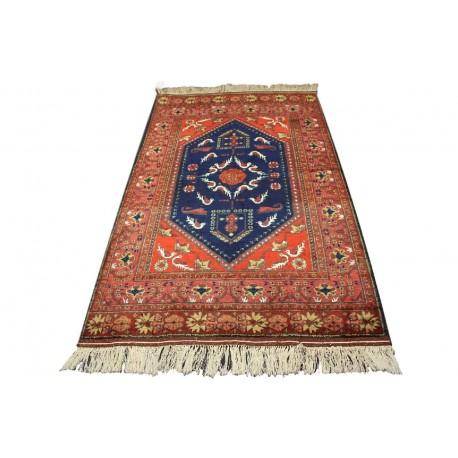 Kobierzec z Afganistanu 100% jedwab etniczny orientalny dywan ręcznie wykonany 115x185cm XX wiek cenny